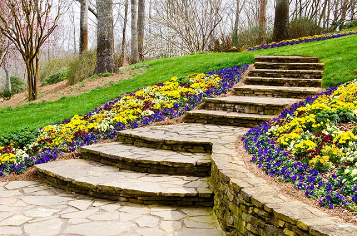 Dress up your yard with brick walkway
